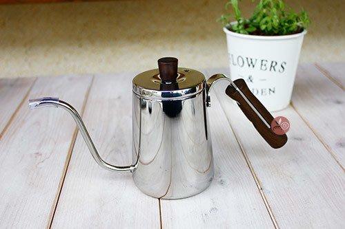 咖啡壼_豐臣Premium原木細口_ 350ml_DRP-207W-35ST◎細口.咖啡壺.茶壺.水壺.不鏽鋼