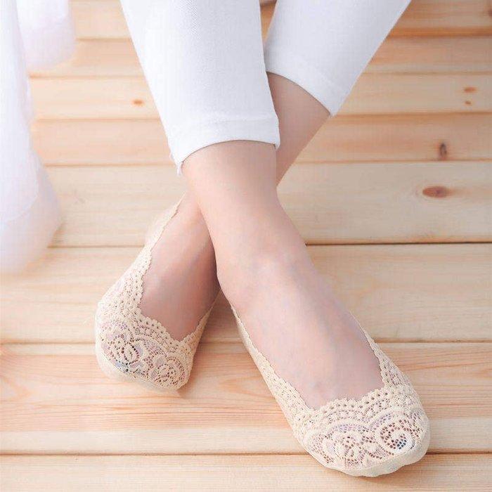 衣萊時尚-新款蕾絲船襪女防滑硅膠淺口無痕隱形襪夏季薄款短襪子襪套棉低幫(規格不同價格不同)