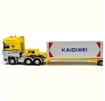 『格倫雅品』凱迪威兒童合金車模型卡車大貨車運輸車集裝箱工程車貨櫃車玩具