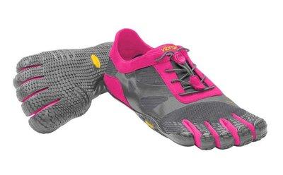 =CodE= VIBRAM FIVEFINGERS KSO EVO 多功能五趾鞋(灰桃紅) 赤足跑步 健身拳擊 粉 女