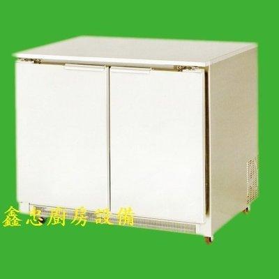 鑫忠廚房設備-餐養設備:RS系列-4尺機後式工作檯冷藏冰箱賣場有水槽-烤箱-西餐爐-快速爐