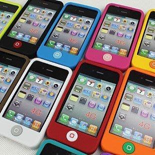 !! 款iphone4 iphone4S超柔軟聰明豆手機套 矽膠套 保護套 果凍套 保護殼