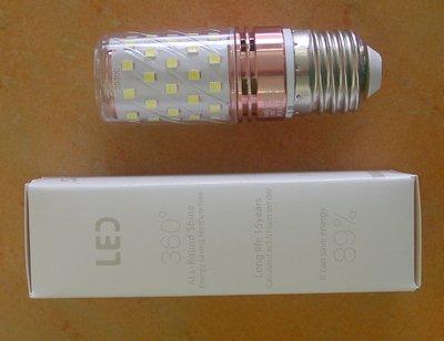 超白光 LED燈泡 燈胆12W E27大螺頭 超光白單色 全新