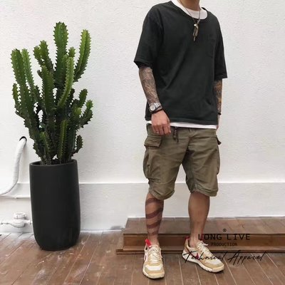 【小囧妹香港正品代購】 VISVIM EIGER SANCTION SHORTS(GIZA C/NY)埃及棉軍短褲18SS
