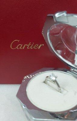 (特賣)Cartier與GIA雙證 1.01克拉 G/VVS2超淨閃爍PT950 歐規51非電視購物沒價值SI級,可在卡地亞店维護後成交