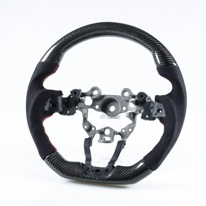 [卡夢碳纖維+麂皮] 方向盤 馬自達2 馬自達3 CX3 CX5用 2017年式後適用