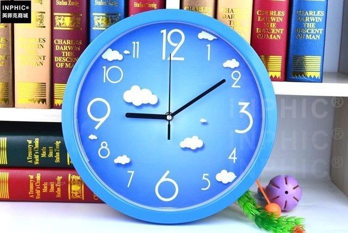 ♥精選暖心商品♥ 雲朵靜音掛鐘客廳臥室鐘錶現代石英鐘時鐘簡約創意掛表