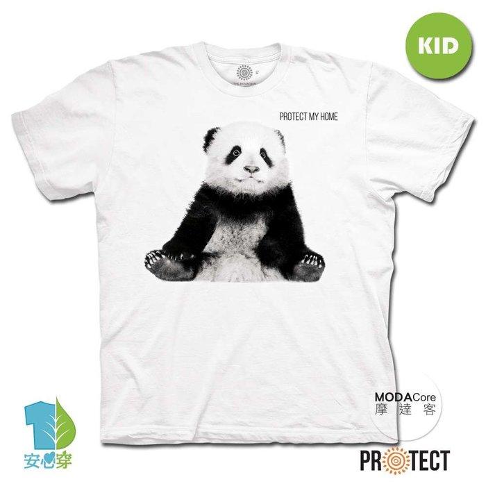 (預購)摩達客-美國The Mountain保育系列小貓熊 兒童幼兒 白色純棉短袖T恤
