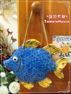 【番茄佈屋家飾精品】***精緻瓷藍色魚...