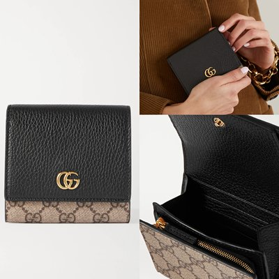 現貨**全新 Gucci GG Marmont Petite 中號 錢包 短夾