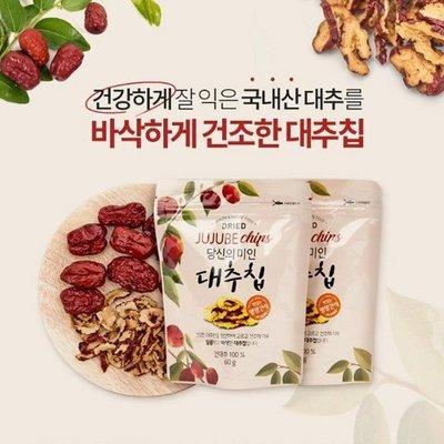 韓國 手工紅棗乾 Dried Jujube Chips 60g 紅棗乾 果乾 零食【特價】異國精品