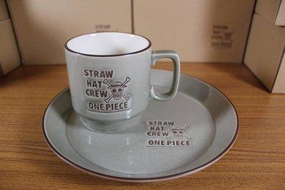 ☆海賊專賣店☆日版金證☆日本製 陶瓷 ONE PIECE 單售咖啡盤(鐵灰色)另售咖啡杯、餐盤、濾杯大馬克杯海賊王航海王