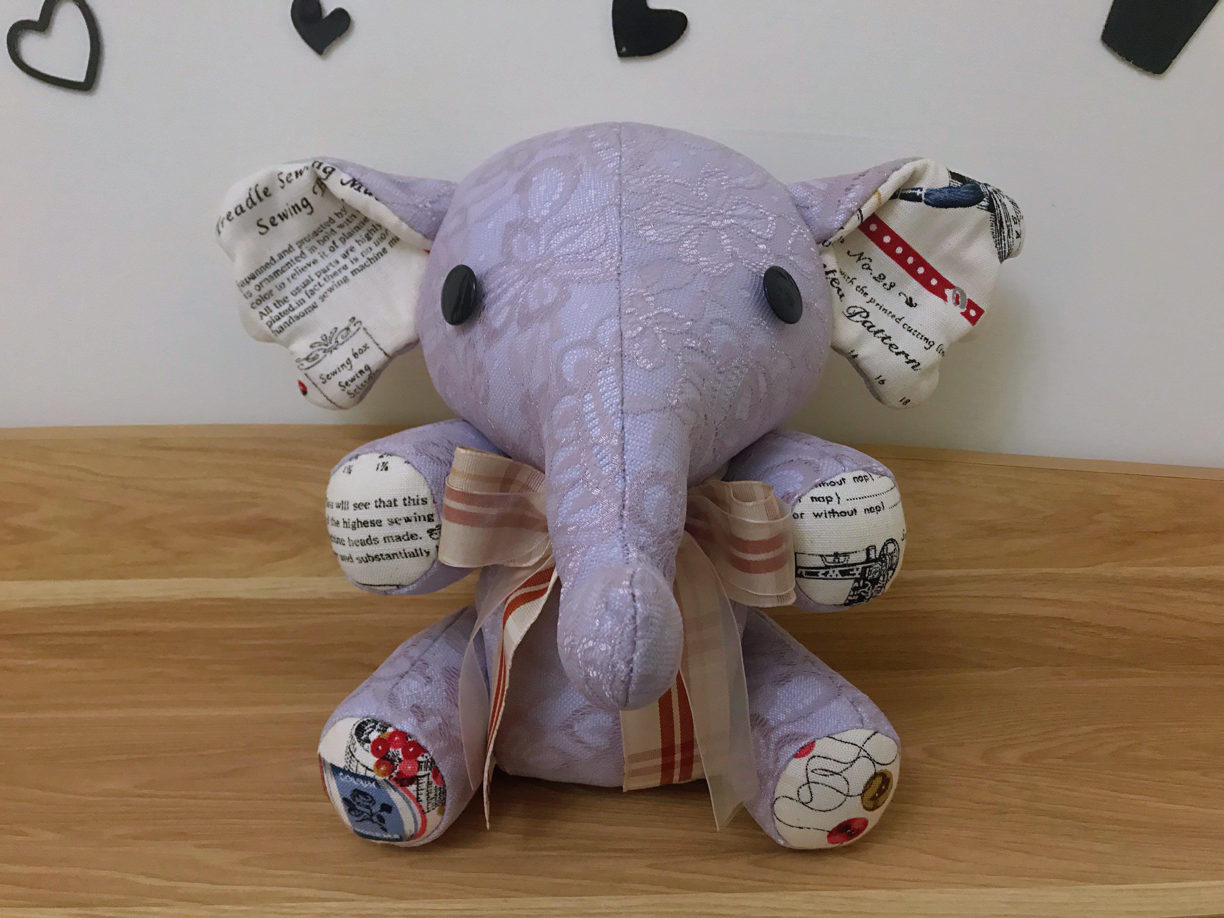 大象布偶 布偶象 蕾絲 純手工縫製 手工布偶