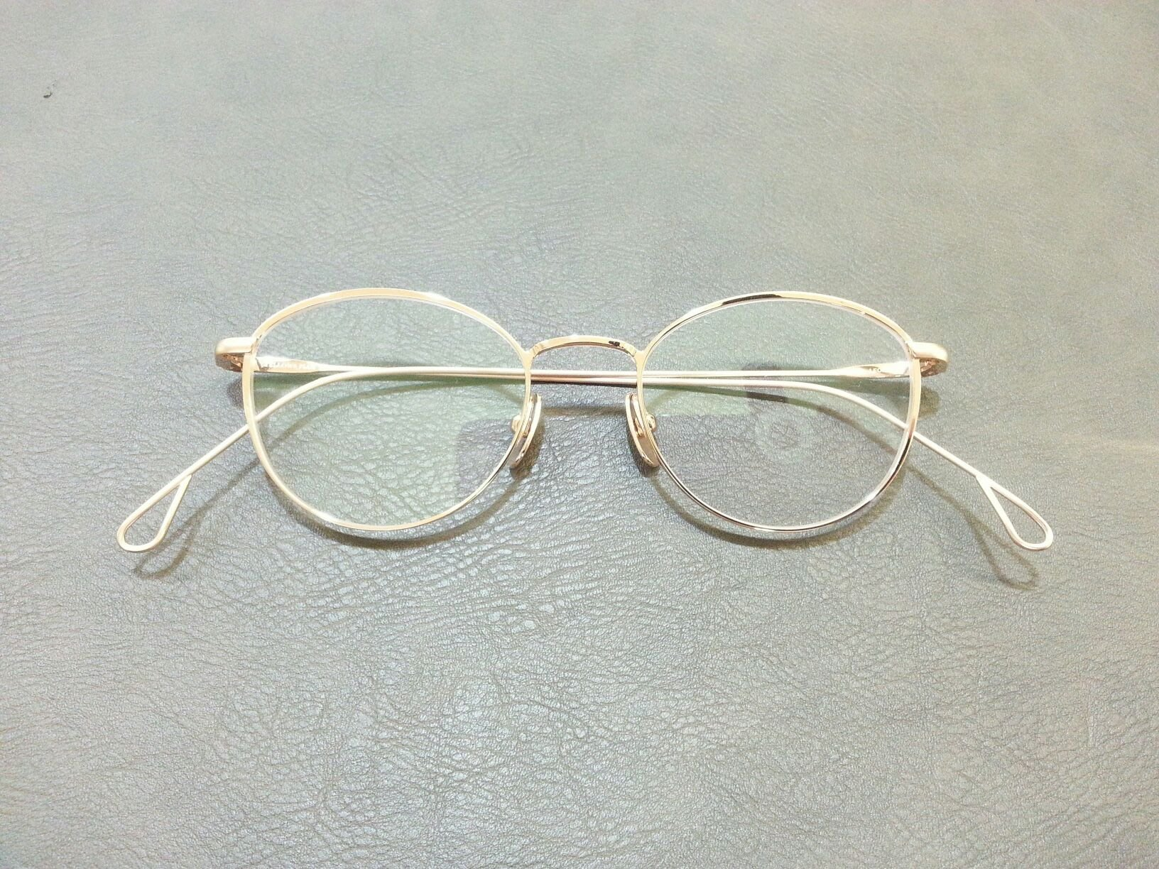YELLOWS PLUS LEONA 純鈦金屬 日本手工眼鏡  玫瑰金色