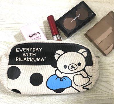 ☆Juicy☆日本雜誌附錄 Rilakkuma 拉拉熊 懶懶熊 輕鬆小熊 熊哥 化妝包 收納袋 小物包 筆袋 2506