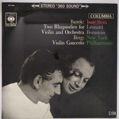 黑膠唱片 Isaac Stern - Bartok Rhapsodies, Berg Violin Concerto