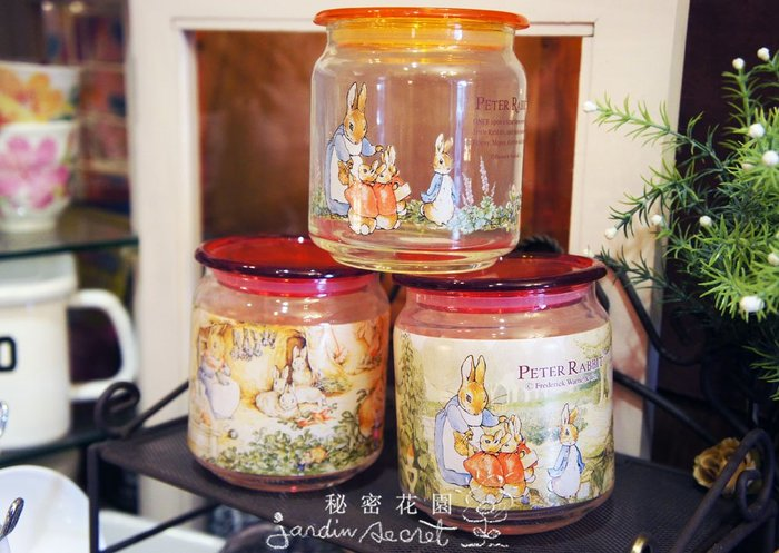 Peter Rabbit彼得兔玻璃密封罐/密封瓶/收納罐--秘密花園
