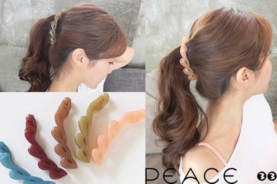 【PEACE33】正韓國空運進口。髮飾飾品 果凍扭轉曲線 香蕉夾/髮夾/抓夾。現+預