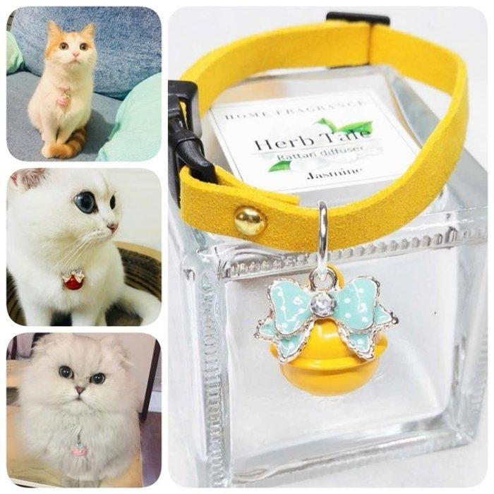 寵物項圈    鈴鐺貓咪蝴蝶結多色狗狗泰迪比熊兔子項鏈飾品