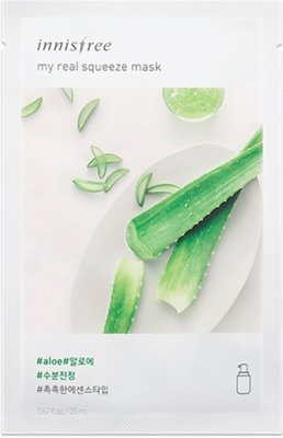 innisfree my real squeeze mask aloe 蘆薈面膜 新包裝
