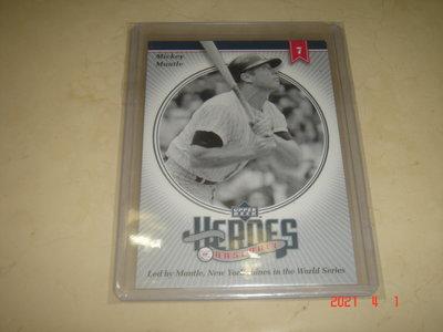 美國職棒 Yankees Mickey Mantle 2002 UD Heroes of Baseball 球員卡