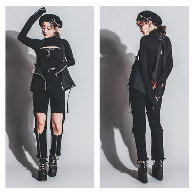 美國東村【Slightly Numb】KILLER PANTS 破洞 拉鍊 直筒 長褲