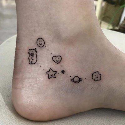 【萌古屋】】可愛日月星星 - 防水紋身貼紙刺青貼紙 HC-3016