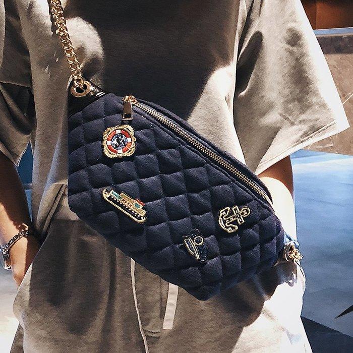 XINXIN女包少女小挎包包韓版 時尚新款 日韓系列 迷人包 女生包女新款女包夏天菱格百搭腰包潮ins超火包鏈條包