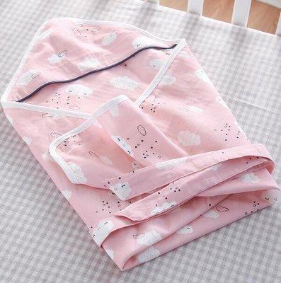 新生兒抱被初生嬰兒包被産房包布包巾純棉紗布夏季薄款寶寶襁褓巾—莎芭
