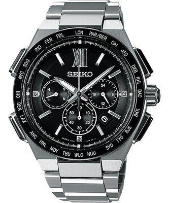 SEIKO Brightz 商務鈦金屬計時太陽能電波腕錶(SAGA209J)-43mm8B92-0AF0D