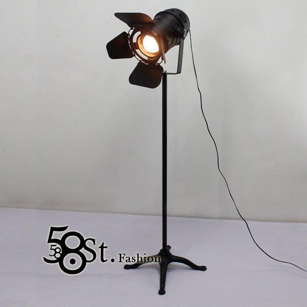 【58街】義大利設計師款式「攝影探照式落地燈」美術燈。複刻版。GU-125
