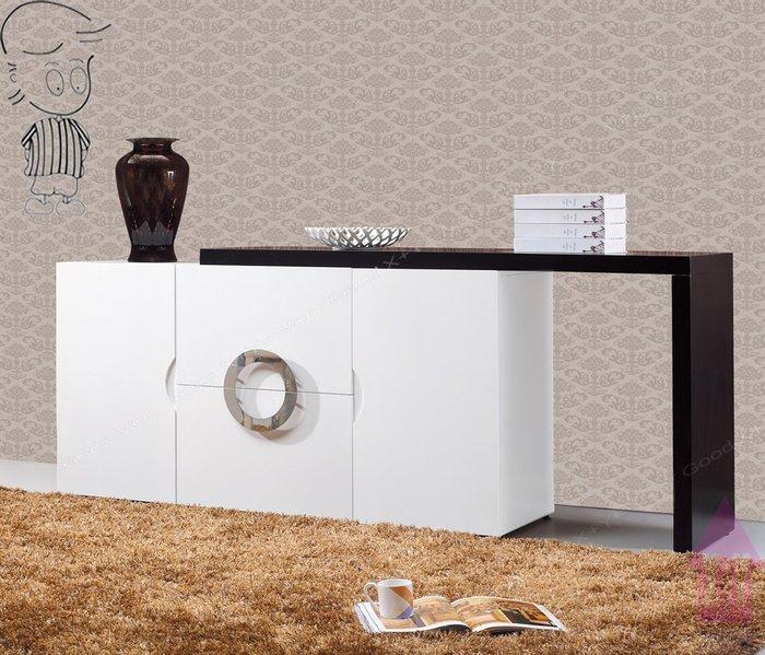 【X+Y時尚精品傢俱】現代餐櫃收納櫃系列-帕克 5尺白色伸縮餐櫃.碗碟櫃.碗盤櫃.不鏽鋼拋光造型手把.摩登家具