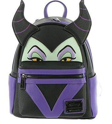 【丹】A_Loungefly Maleficent Faux Leather Mini 睡美人 黑魔女 迷你 後背包