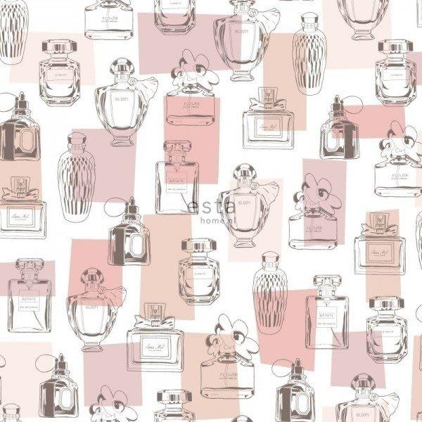 【Uluru】歐洲期貨壁紙.童趣 perfume bottles (4色) 香水瓶 香水 兒童房 壁紙 HE106系列