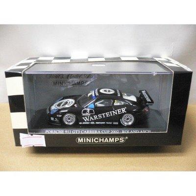 MINICHAMPS 1/43 PORSCHE 911 GT3 CARRERA CUP 2002 ROLAND ASCH #3 (06704)