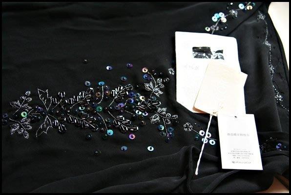 全新吊牌完整【CORDIER】日皇太子妃喜愛的貴族品牌100%蠶絲黑色亮片背心(原價$7380)