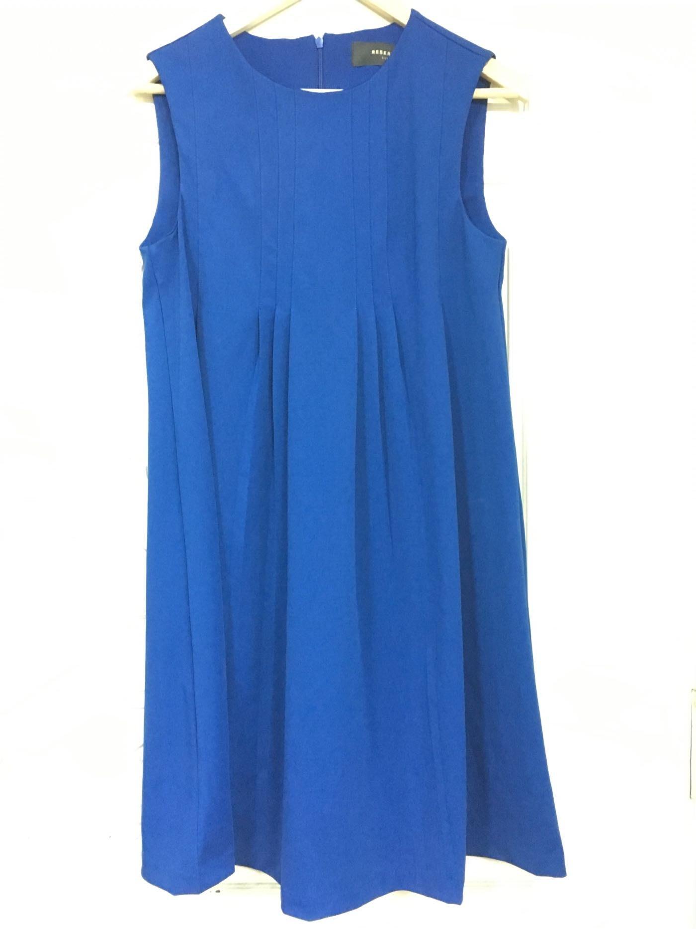 歐洲快時尚品牌RESERVED  貴族藍輕雅洋裝