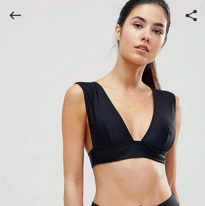 asos missguided bikini罩杯 一件式 尺寸UK10 EU38