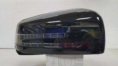 BENZ C216 W216 09- 後視鏡 照後鏡 外殼+方向燈 開叉 (右邊乘客座) (黑色) 2128101064