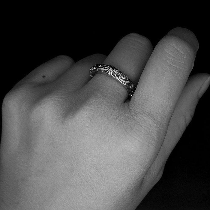 奇奇店#明星GD同款復古十字花鈦鋼尾戒朋克風霸氣潮牌男女情侶指環戒指#男生飾品#項鏈#戒指#男生項鏈#手鏈