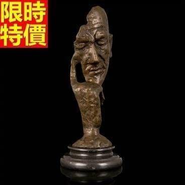 銅雕擺件 智者思考-辦公室書房抽象藝術雕塑工藝品66v25[獨家進口][巴黎精品]