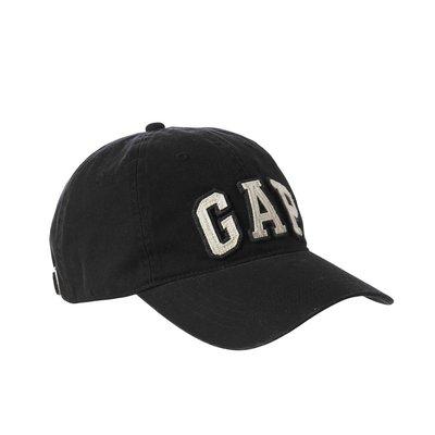 美國百分百【全新真品】GAP 配件 帽子 棒球帽 遮陽帽 鴨舌帽 經典 logo 貼布 黑色 S M號 I041