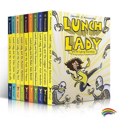 英文原版 Lunch Lady 系列【10冊】全彩漫畫章節橋梁書 Jarrett J. Krosoczka 中小學生英語課外閱讀故事書 7-8-9-10-11-