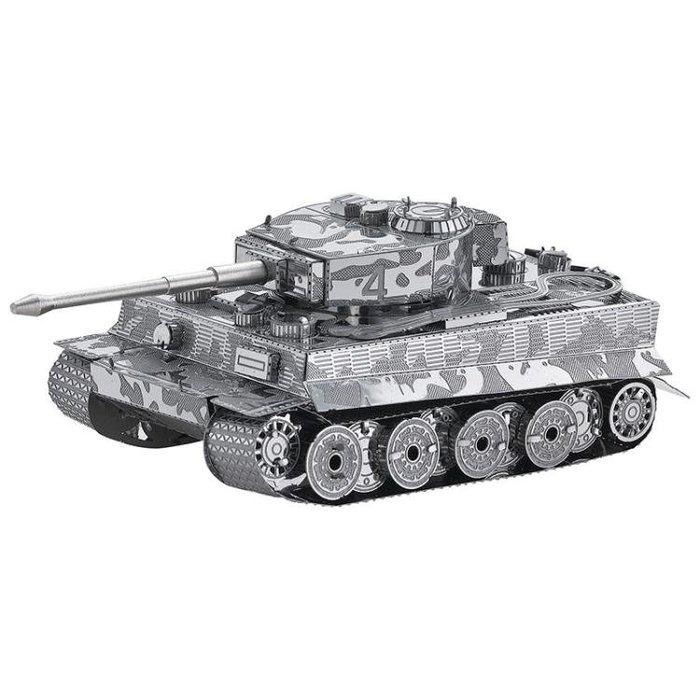 【 德國虎式坦克】3D立體合金拼裝DIY 金屬軍事模型 益智玩具新年