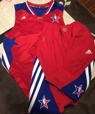 Adidas NBA 2013 all star asg 明星賽 空白 球衣 二手 球褲 帶吊