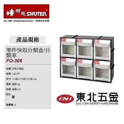 附發票 [東北五金] 樹德 BC01018 FO-306 零件快取分類盒 件箱/工具櫃/整理盒