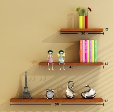 墻上收納置物架免打孔牆壁客廳一字隔板擱板壁掛牆面層板書架裝飾架承重2-3kg