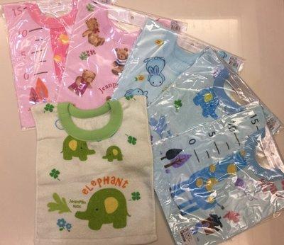 ~MY DNA熊本部~毛巾套頭圍兜 ~100%純棉 毛巾布 透氣保暖吸水力強 顏色 綠 藍 粉 圖案 出貨 製