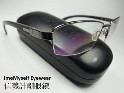 信義計劃 眼鏡BUGATTI 布加迪 B473 嘉晏公司貨 法國製 手工眼鏡 金屬框 半框 木頭腳 超越 麥拉倫 超跑