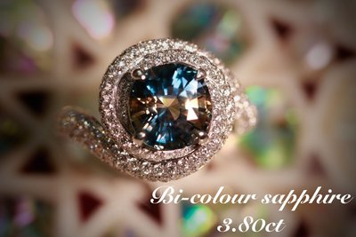 💎玉殿珠寶💎 天然無燒雙色藍寶石
